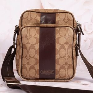 Coach Bags - Coach Heritage Stripe Crossbody Bag Purse